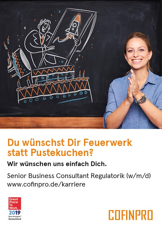 Stellenanzeige Senior Business Consultant Regulatorik (m/w/d) bei Cofinpro