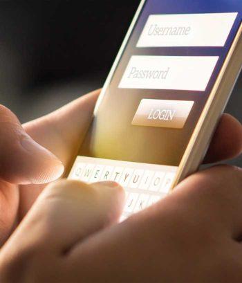 Biometrie beim Tippen des Passwortes