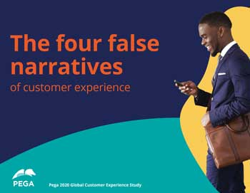 Die Studie: The four false narratives of customer experience von Pegasystems