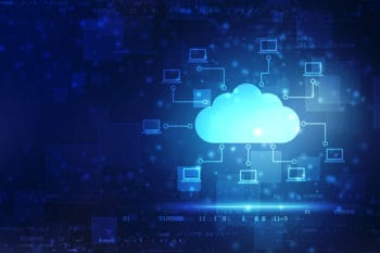 Cloud computing, Cloud Computing Concept, Cloud computing and network security technology concept