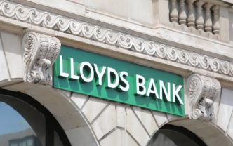 LONDON ENGLAND - JUNE 1, 2019: Lloyds bank sign UK