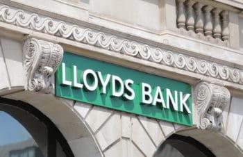LONDON ENGLAND - JUNE 1, 2019: Lloyds bank sign UK