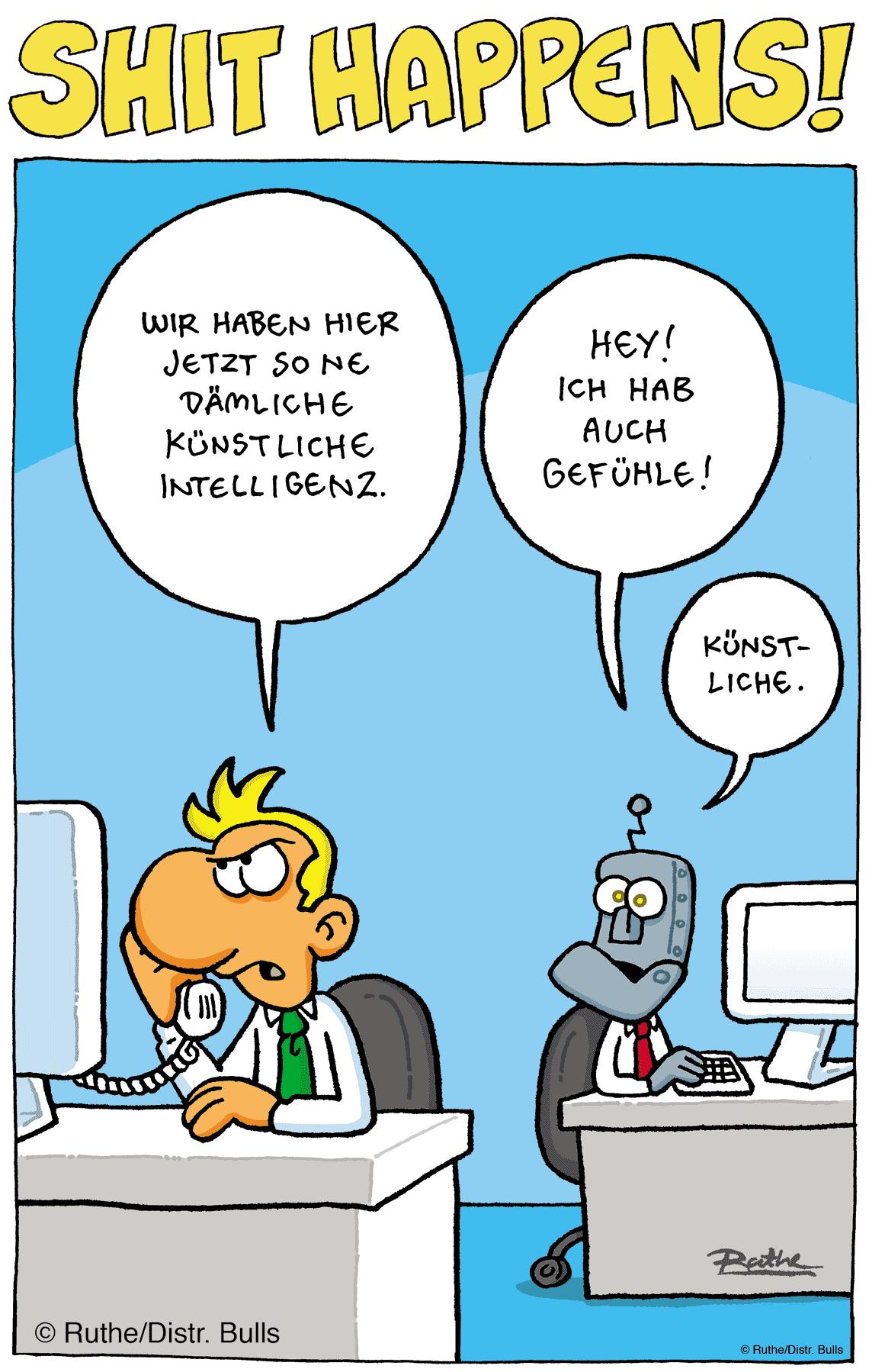 Der neue KI-Kollege hat auch Gefühle ... künstliche<q>Ralf Ruthe