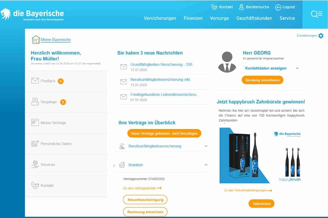 Die Bayerische will digitale Tools und persönliche Beratung in ihrem Versicherungsmanager verbinden. <q>Bayerische