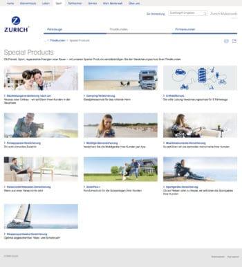 Die Special Products der Zurich Versicherung sind nun weitestgehend digitalisiert. <q>Zurich