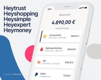 Mit Heymoney will die Allianz alle Lebensbereiche abdecken, die mit Finanzen und Vorsorge in Verbindung stehen. <q>Iconic Finance