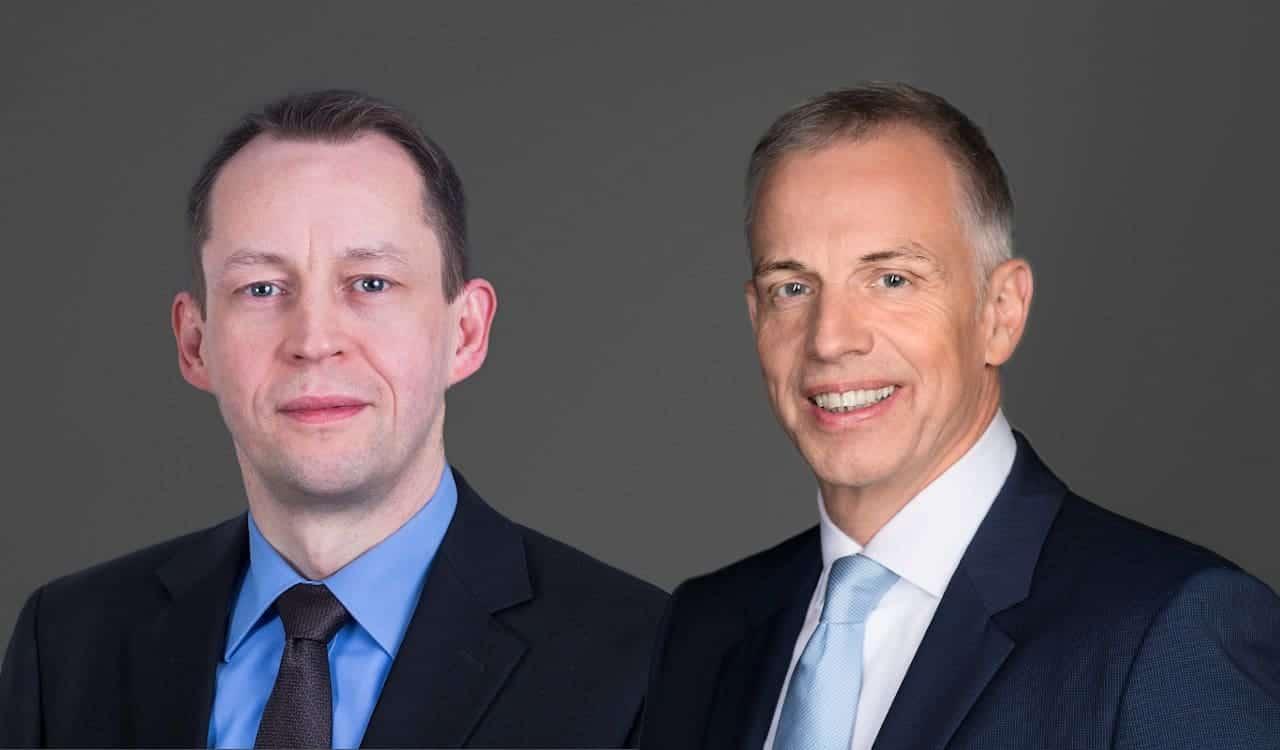 André Nash und Andreas Krautscheid vom Bundesverband deutscher Banken sehen die Branche, aber auch die Politik in der Pflicht, auf die wachsende Cyberbedrohung des Finanzsektors zu reagieren. <q>BdB
