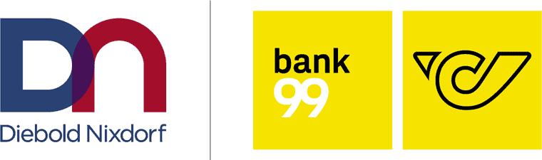 Diebold Nixdorf und Bank99 Logo
