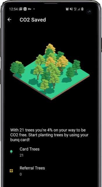 bunq pflanzt Bäume ...