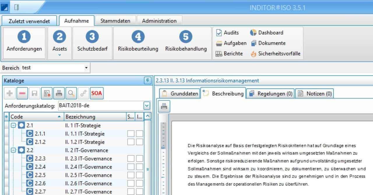 Software-Lösung unterstützt bei BAIT- und VAIT-Richtlinien