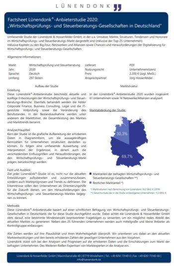 Factsheet zur Lünendonk & Hossenfelder-Studie
