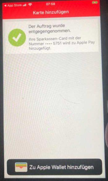 girocard in der App hinzufügen: Problemlos.