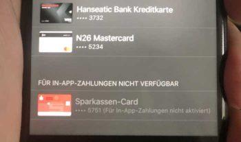 In-App-Payment mit der girocard: Leider nicht.