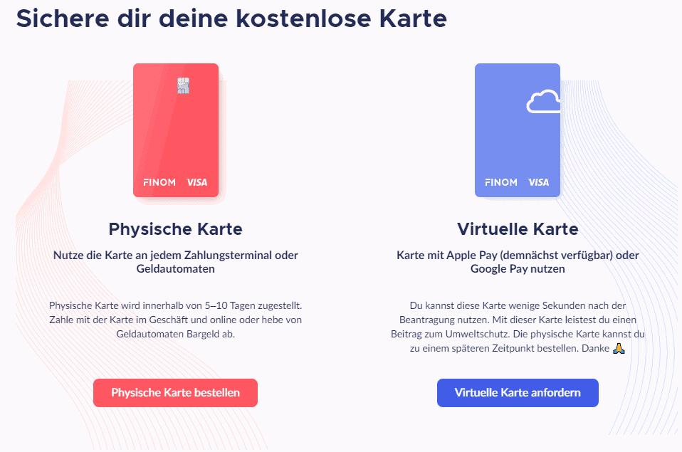 """Finom-Kreditkarte: Apple Pay """"demnächst"""", Google Pay offenbar bereits jetzt - aber nur für die virtuelle Karte?"""