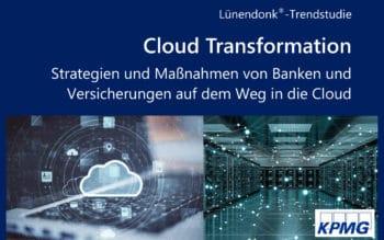 Die Lündendonk-Trendstudie beleuchtet den zunehmenden Einsatz von Private und Public Clouds von Banken und Versicherungen. <Q>Lünendonk & Hossenfelder