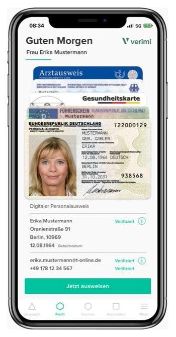 Der Personalausweis kann nun über die eID-Funktion auch bei iPhones eingebunden werden. <q>Verimi