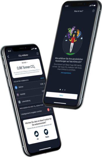 Die neue App zeigt den CO2-Fußabdruck an