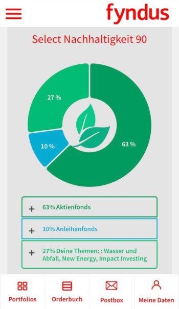 Im Bereich Select Nachhaltigkeit stehen fünf unterschiedliche Portfolios zur Wahl, die sich in den Risiko-Ausprägungen unterscheiden. <q>Stadtsparkasse Düsseldorf