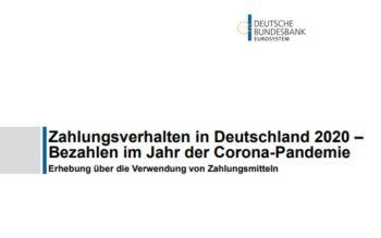 Zahlungsverhalten in Deutschland 2020 - Studie der Deutschen Bundesbank