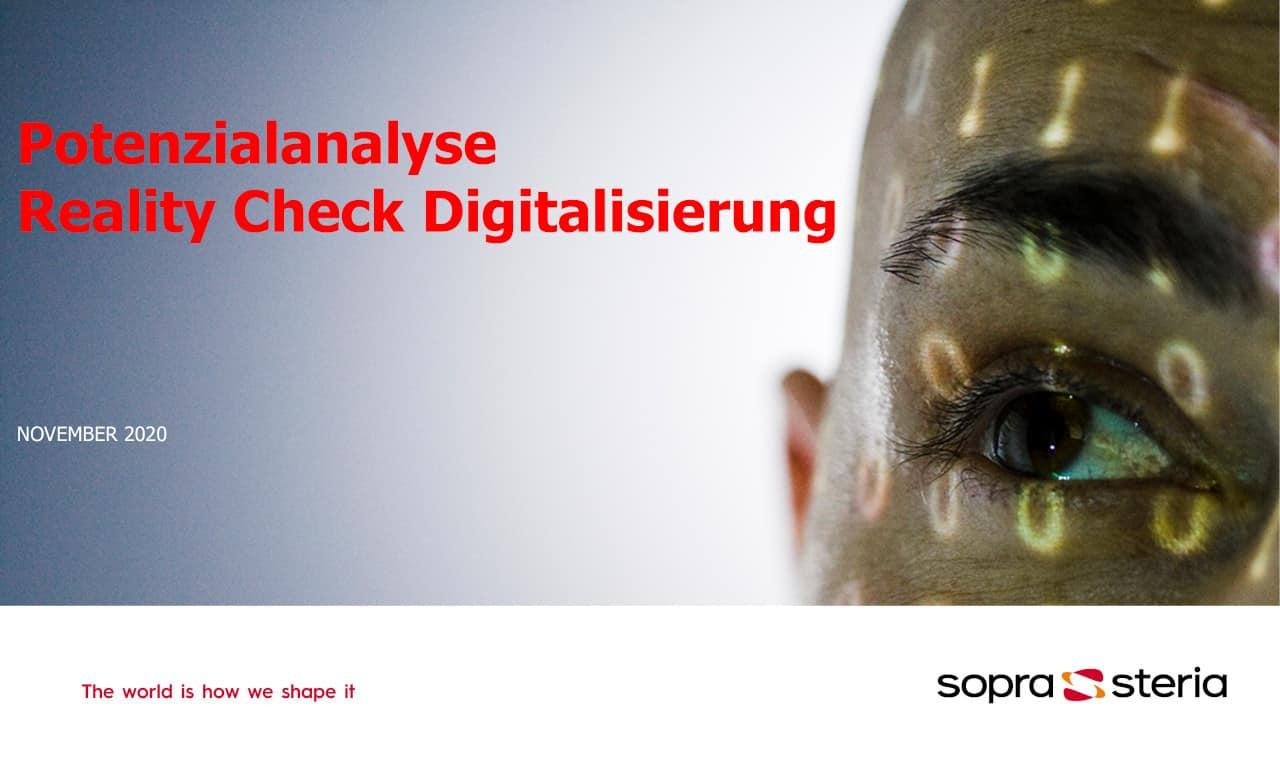 Die Studie von Sopra Steria untersucht die Auswirkungen von Digitalisierungsprojekten in der Praxis. <Q>Sopra Steria SE