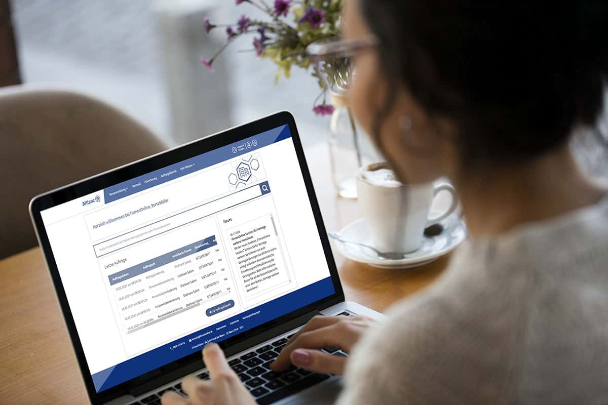 Allianz- und Fremdverträge lassen sich nun gemeinsam auf der bAV-Plattform verwalten <q>Allianz