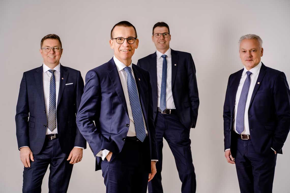 vlnr: Detlev Klage, Andreas Schelling, Martin Waldmann und Michael Schürmann