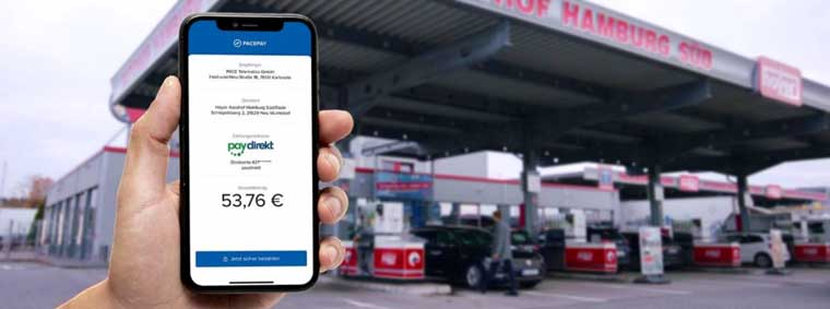 Paydirekt jetzt an 400 Tankstellen per Pace Telematics und S-Payment