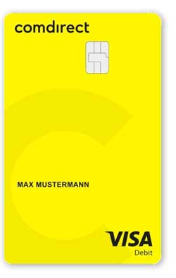 Visa-Debitkarte der comdirect