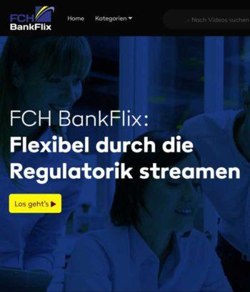 Einstiegsseite der Streaming-Plattform BankFlix