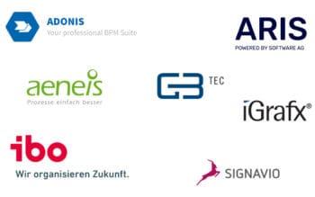 Sieben BPM-Lösungen hat Confinpro in seinem Marktüberblick 2021 bewertet. <Q>Confinpro
