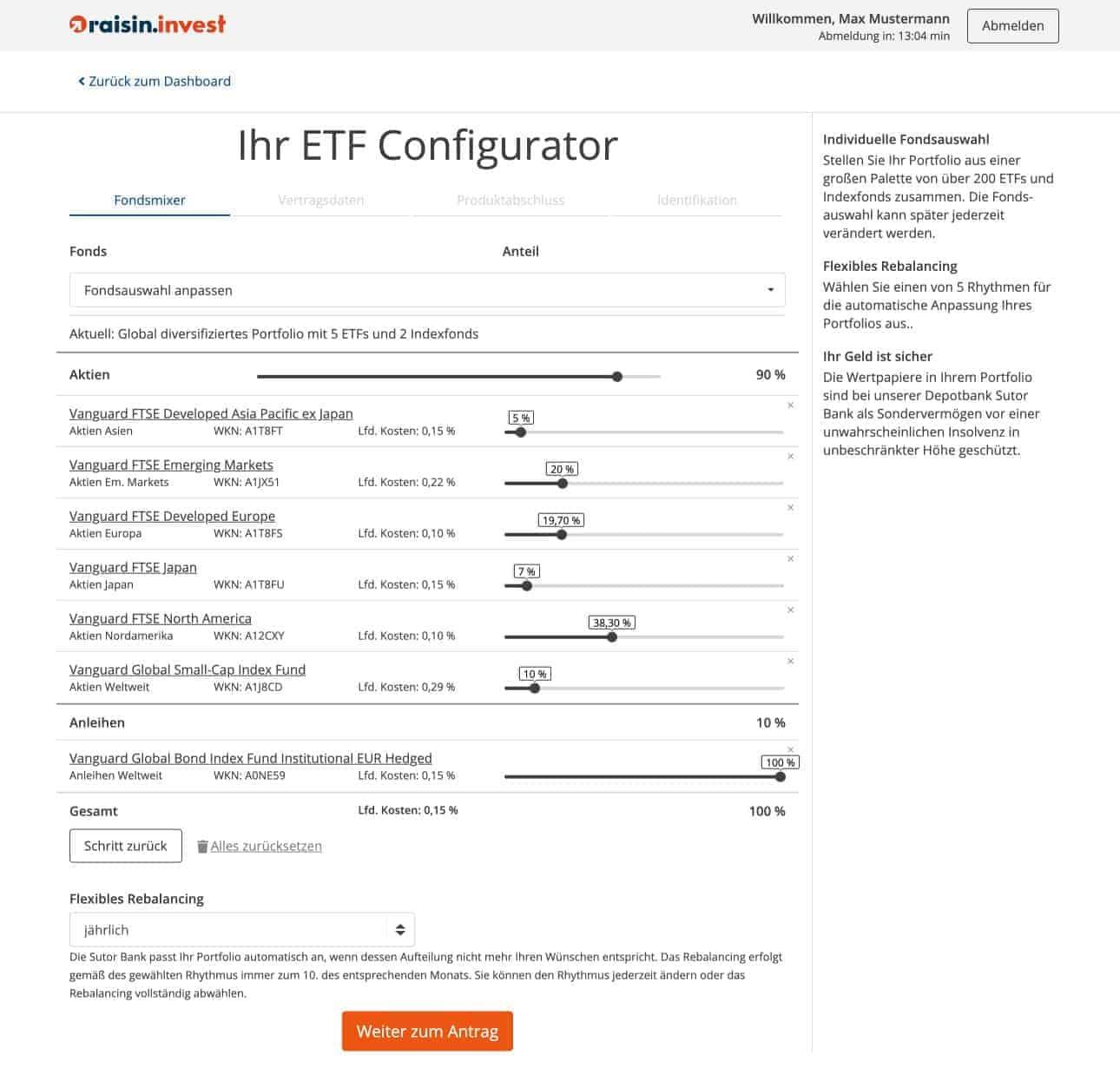 ETF Configurator von Raisin