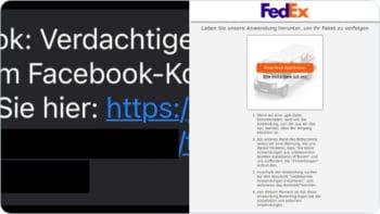 Der Link per SMS führt zu einer gefälschten Site, wo eine App geladen werden soll – so kommt der Banking-Trojaner Flubot aufs Smartphone. <Q>CERTbund