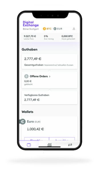 An der Krypta-Börse BSDEX kann nun auch mobil gehandelt werden. <Q>Börse Stuttgart
