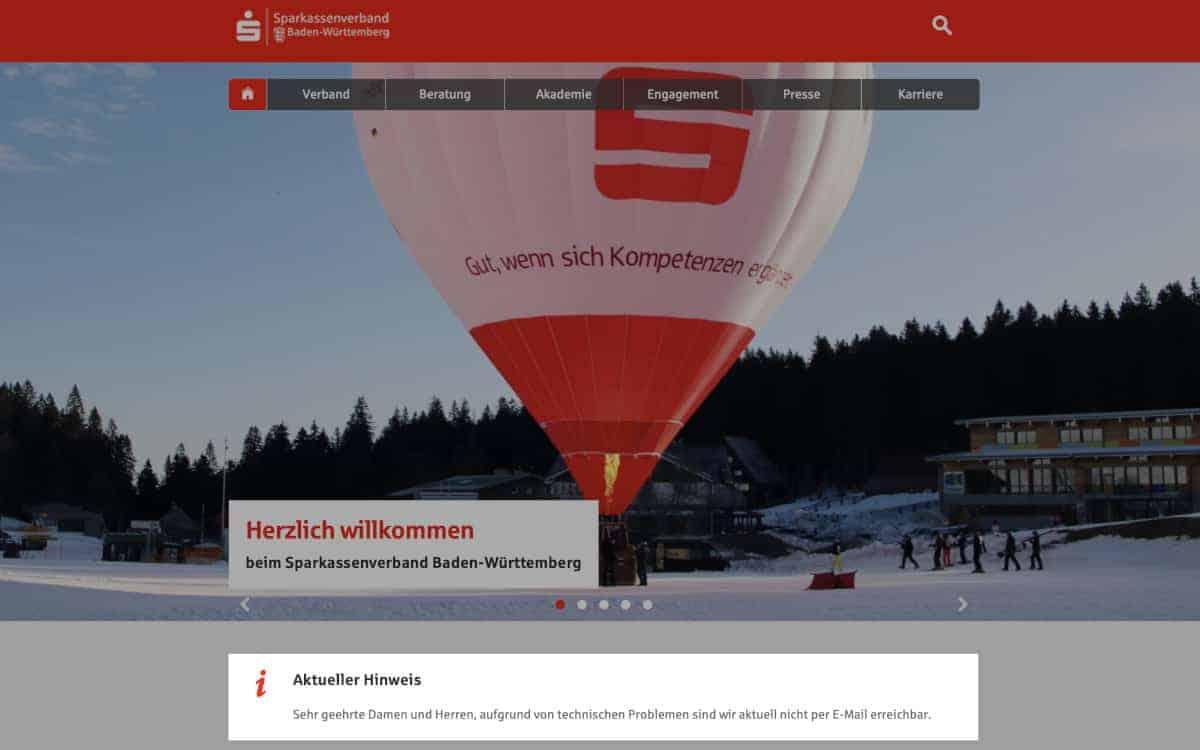 Derzeit keine eMails? Der Hack hat massive Konsequenzen für die IT-Landschaft des Verbandes. <Q>Sparkassenverband Baden-Württemberg