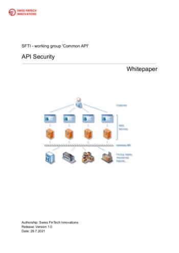 Technische Aspekte, rechtliche Grundlagen und verfügbare Lösungen zur API-Security hat der SFTI in seinem aktuellen Whitepaper zusammengefasst. <Q>SFTI