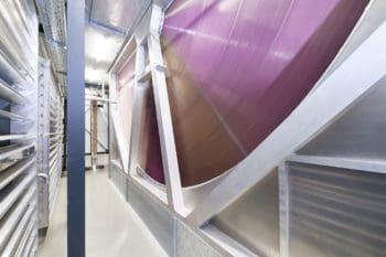 Solche Räder aus Aluminium dienen beim Kyoto-Cooling als effiziente Wärmetauscher. <Q>Noris Network