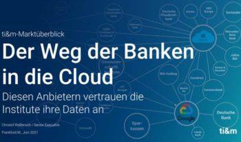 Für die Finanzinstitute in Deutschland führt an der Cloud kein Weg mehr vorbei.