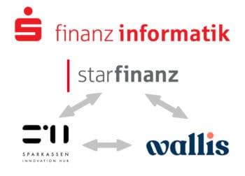 Unter dem Dach der Starfinanz, die zur Finanz Informatik gehört, arbeiten die beiden Töchter wallis und S-Hub zusammen. <Q>Star Finanz, FI, wallis